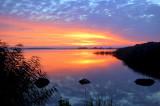 Sunset Arresø Lake Denmark