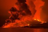 Fernandina Volcano Eruption