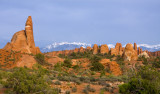 Fins and La Sal Mountains