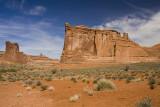Sandstone Cliffs and Desert Grass