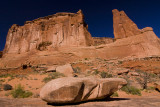 Sandstone Rock Formations Near Courthouse Towers