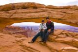 Charlie and Paula at Mesa Arch