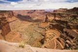 Shafer Trail Through Canyon