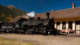 Train Pulling Into Silverton from Durango