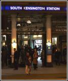 South Ken underground at night