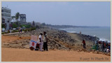 Pondicherry's rocky beach