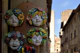 San Gimignano. masks