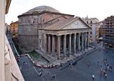 Pantheon seen from above