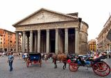 Pantheon with horses