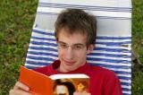 Ben reading in Vero Beach