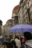 waiting in line for the Basilica di Santa Maria del Fiore (duomo)