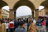 at the center of the Ponte Vecchio