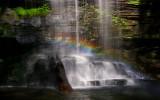 Rainbow at Harrison Wright Falls