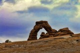 Delicate Arch as seen from a lower viewpoint