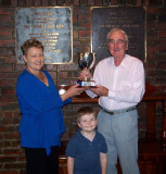 Presentation of John Lindsay Trophy, February  2008 to Bob Lomax. Photographed  by Peter Stackpole