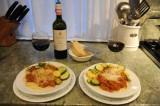 Delicious pasta Bolognese and zucchini and Piaggia wine.jpg