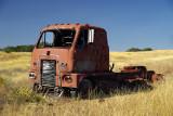 International truck in field