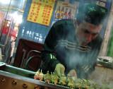 lamb kebab vendor in Shanghai