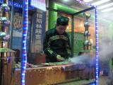 Muslim kebab street vendor from Xinjiang province