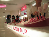 Barbie cosmetics at the new Barbie flagship store in Shanghai, Huai Hai Road, French Concession