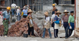 Chinese building site: more women than men