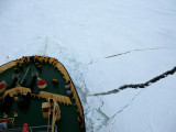 Kapitan Khlebnikov breaking ice