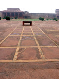 Pachisi Court, where Akbar played pachisi using cortesans as game pieces