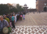 Queue to see the inner tombs