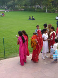 Indian attire:  Maharashtrian (pink), sari (red), salwar-kameez (white)