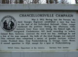 A Civil War marker in Chancellorsville battlefield signifying the importance RR grade