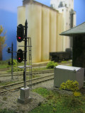 City Junction signal with the massive Mid-Atlantic feeds elevator in the background.