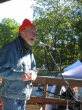 Pete Seeger performs at the Heart of the Hudson Valley Bounty Festival in the  unique farming town of Marlborough