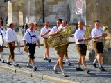 Musicians On Bridal Procession, Regensburg, Bayern