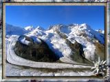 Majestic Glacier in Zermatt, Swiss Alps