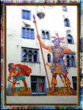 David and Goliath in Regensburg, Bayern