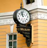 Old Street Clock In St.Petersburg