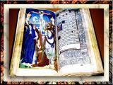 XIV Century Bible In Burgundy