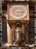 Medieval Clock On Strasburg Cathedral, France