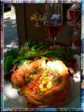 Three Cheese Amazing Quiche, Alsace