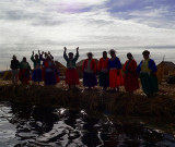 Farewell On Uros Island, Titicaca Lake