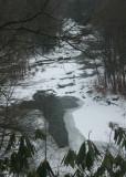 Cross Shaped Opening in Frozen Cherry River v tb0111lir.jpg