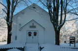 Hinkle Mtn Church Winter Sun Shining Through tb0211khr.jpg