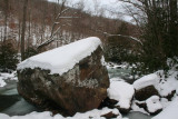 Large Sloped Stone in Wintry North Fork tb0211kqr.jpg