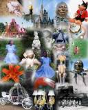 Black Alice in Wonderland collage
