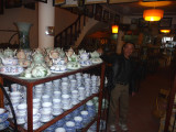 Inside a ceramic shop in Bat Trang.