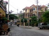 Street view of Bat Trang ceramic village, the best known ceramic village in Vietnam. It is located 10 km. east of Hanoi.