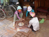 Workers making furniture in Dong Ky, a timber village about 25 km. northeast of Hanoi.