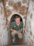 Here I am in a tunnel entrance.  I went in about 50 feet and got a serious case of claustrophobia!