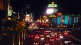 View of the Las Vegas strip at night.