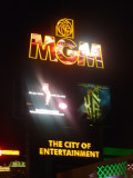 Sign for MGM Grand hotel and casino.